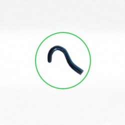 Jaffe-Knolle Iris Hook Angled  curved blunt hook
